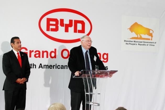 Charlie Munger at BYD NA HQs Grand Opening