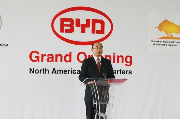 SZ Mayor  Xu at BYD NA HQs Grand Opening